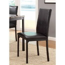 Benzara BM179947 Leatherette Upholstered Counter Height Metal Frame Side Chair, Dark Brown (Set of 4)