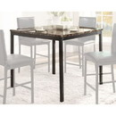 Benzara BM179949 CoUnter Height Table In Metal Frame With Faux Marble Top, Black