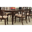 Benzara BM180187 Contemporary Style Wooden Dining Table With Tapered Legs, Rich Cherry Brown