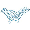 Benzara BM181014 Bird Shape Metal Wine Holder, Blue
