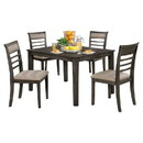 Benzara BM181298 5-Piece Wooden Dining Table Set In Weathered Brown
