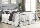 Benzara BM182775 Metallic Full Size Bed, Dark Bronze