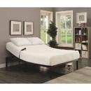 Benzara BM182807 Metal Twin Size Adjustable Bed with Remote, Black