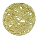 Benzara BM183333 decorative Round Shaped Aluminum Tray With Rough Edges, Pack Of Two, Gold