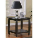 Benzara BM184883 Contemporary Style Solid Wood End Table With Slightly Rounded Shape, Dark Brown