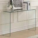 Benzara BM184942 Contemporary Style Minimal Clear Glass Sofa Table, Clear