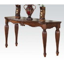 Benzara BM185844 Wooden Sofa Table with Carved Details, Cherry Brown