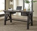 Benzara BM187820 Wooden Desk with Sleek Drawer Storage and Crossed Side Bracing , Brown