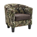 Benjara BM197288 Camouflage Patterned Fabric Accent Chair with Wooden Legs, Multicolor