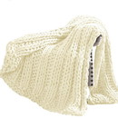 Benjara BM204282 Dreux Acrylic Cable Knitted Chunky Throw The Urban Port, Cream