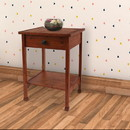 Benjara BM204746 Rustic Wooden End Table with 1 Drawer and 1 Bottom shelf, Brown