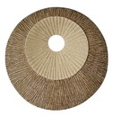 Benjara BM205830 Round and Ribbed Double Layer Sandstone Wall Art, Small, Brown and Beige