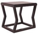 Benjara BM206144 Wooden End Table With Rectangular Top and Sturdy Angular Legs, Brown