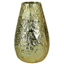 Benjara BM206859 Metal vase with Textured Surface, Gold