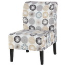 Benjara BM207214 Wooden Armless Accent Chair with Fabric Upholstery, Multicolor