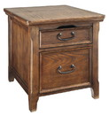 Benjara BM210624 1 Drawer Wooden Media End Table with Sliding Top and Power Hub, Brown