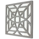 Benjara BM211075 Mirrored Wall Decor with Decorative Geometric Design, Gray and Silver