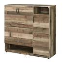 Benjara BM211131 3 Door Wooden Shoe Cabinet with Multiple Storage Compartments, Brown