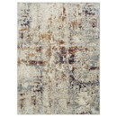 Benjara BM214138 7 X 5 Feet Polyester Rug with Abstract Pattern, Beige and Brown