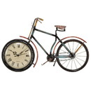 Benjara BM216603 Bicycle Shaped Metal Table Clock with Stand Support, Multicolor