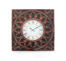 Benjara BM218337 Baroque Design Metal Wall Clock with Roman Numerals, Brown and Black