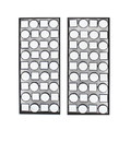 Benjara BM218348 Wall Plaque with Alternate Square and Round Mirrors, Set of 2, Gray