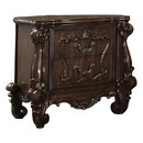 Benjara BM218447 Traditional Wooden Nightstand with Antique Handles and Scrolled Legs, Brown