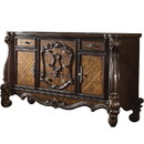 Benjara BM218448 Traditional Wooden Dresser with 5 Drawers and 2 Cabinets, Brown