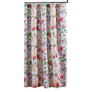 Benjara BM218740 72 x 72 Inches Shower Curtain with Floral Print, Multicolor