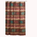 Benjara BM218750 60 x 50 Inches Shower Curtain with Salmon and Bear Print, Multicolor