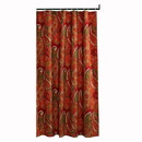Benjara BM218801 72 x 72 Polyester Shower Curtain with Paisley Print, Cinnamon Red