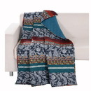 Benjara BM218812 60 x 50 Inches Polyester Throw Blanket with Paisley Print, Multicolor