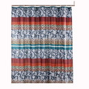 Benjara BM218813 72 x 72 Inches Shower Curtain with Paisley Print, Multicolor