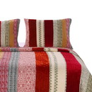 Benjara BM218872 Textured Print King Size Pillow Sham with Fabric Bound Edges, Cranberry Red