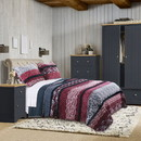 Benjara BM218885 Floral and Lace Print Twin Quilt Set with Fabric Bound Edges, Multicolor