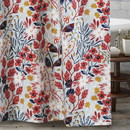 Benjara BM218894 Polyester Shower Curtain with Floral Prints, Multicolor