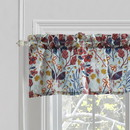 Benjara BM218901 Lined Polyester Valance with Two Inch Header and Floral Prints, Multicolor