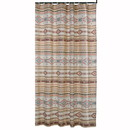 Benjara BM218903 Polyester Shower Curtain with Traditional Kilim Pattern, Multicolor