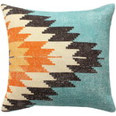 Benjara BM221642 18 x 18 Handwoven Cotton Accent Pillow with Fiery Print, Multicolor