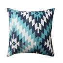 Benjara BM221646 18 x 18 Handwoven Cotton Accent Pillow with Geometric Print, Multicolor