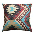 Benjara BM221663 24 x 24 Inches Handwoven Cotton Accent Pillow with Kilim Print, Multicolor