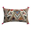 Benjara BM221670 20 x 12 Handwoven Cotton Accent Pillow with Abstract Print, Multicolor