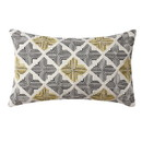 Benjara BM221671 20 x 12 Handwoven Cotton Accent Pillow with Jacquard Print, Multicolor