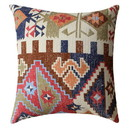 Benjara BM221677 24 x 24 Handwoven Cotton Accent Pillow with Tribal Print, Multicolor