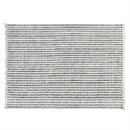 Benjara BM225507 8 X 10 Feet Fabric Rug with Fringes and Sawtooth Stripes, Gray and White