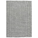 Benjara BM226493 84 x 60 Hand Woven Woolen Rug with Textured Details, Medium, Gray