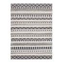 Benjara BM227543 Rectangular Woolen Rug with Tribal Pattern, Medium, Gray and Cream