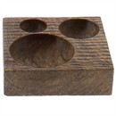 Benjara BM229732 Square Wooden Frame Tray with Round Carved Out Design, Brown