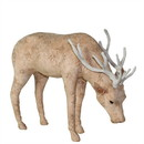Benjara BM229982 Fabric Grazing Stag Design Accent Decor, Large, Pink