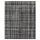 Benjara BM230960 84 x 60 Inches Polypropylene Rug with Abstract Lines, White and Black